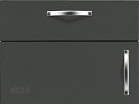 Ebony seidenmatt [ Küchenfront FTBK117 ]