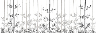 Lechner Arbeitsplatte - Lechner Glas Motive - Artikel Nr. M06 - Bamboo